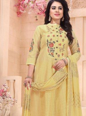 Yellow Sangeet Designer Salwar Suit