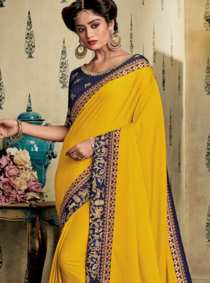 Yellow Sangeet Designer Saree