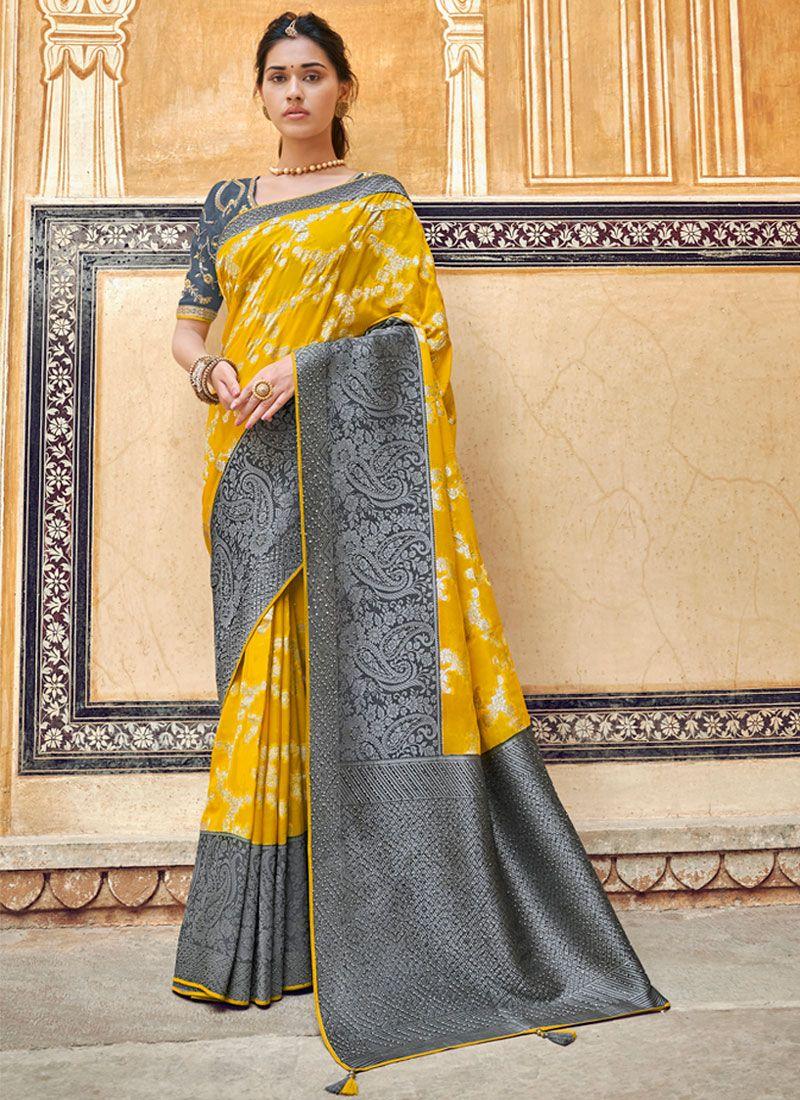 Yellow Sangeet Designer Traditional Saree