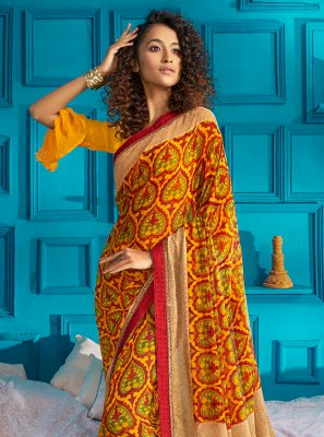 Yellow Traditional Designer Saree