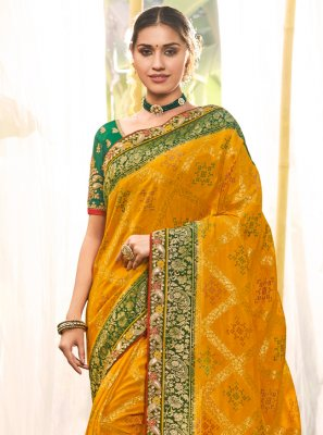 Yellow Traditional Saree