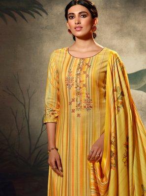 Yellow Trendy Palazzo Suit