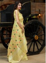 Yellow Weaving Reception Classic Saree