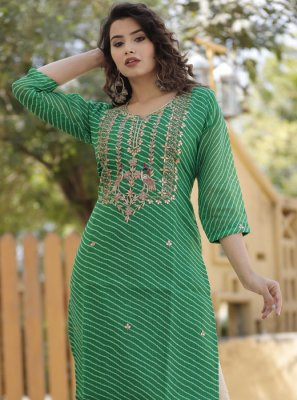 Zardosi Work Reception Designer Kurti