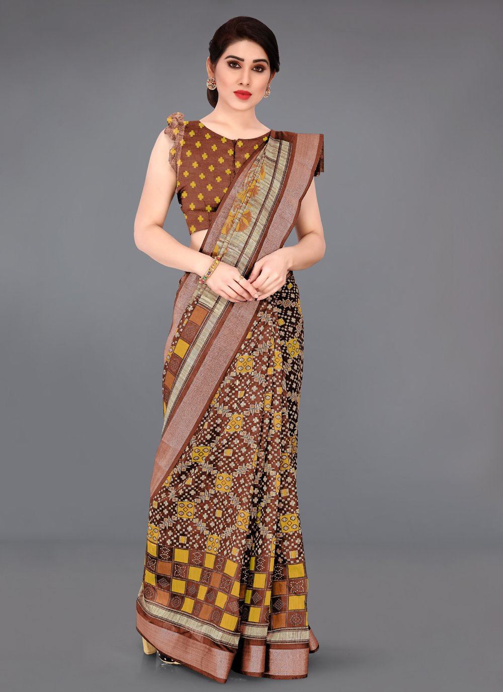 Zari Cotton Casual Saree