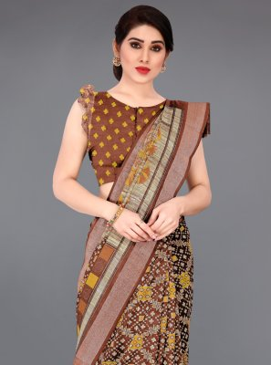 Zari Cotton Casual Saree