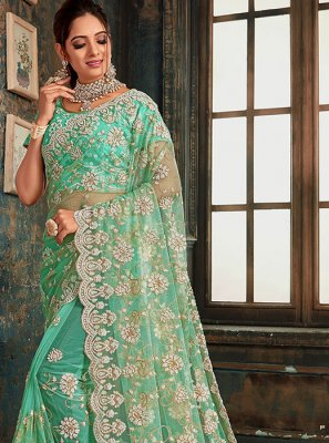 Zari Green Designer Saree