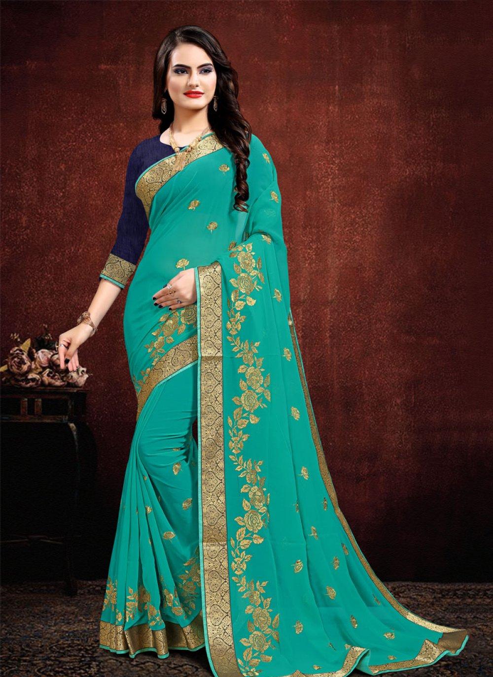 Zari Party Contemporary Saree