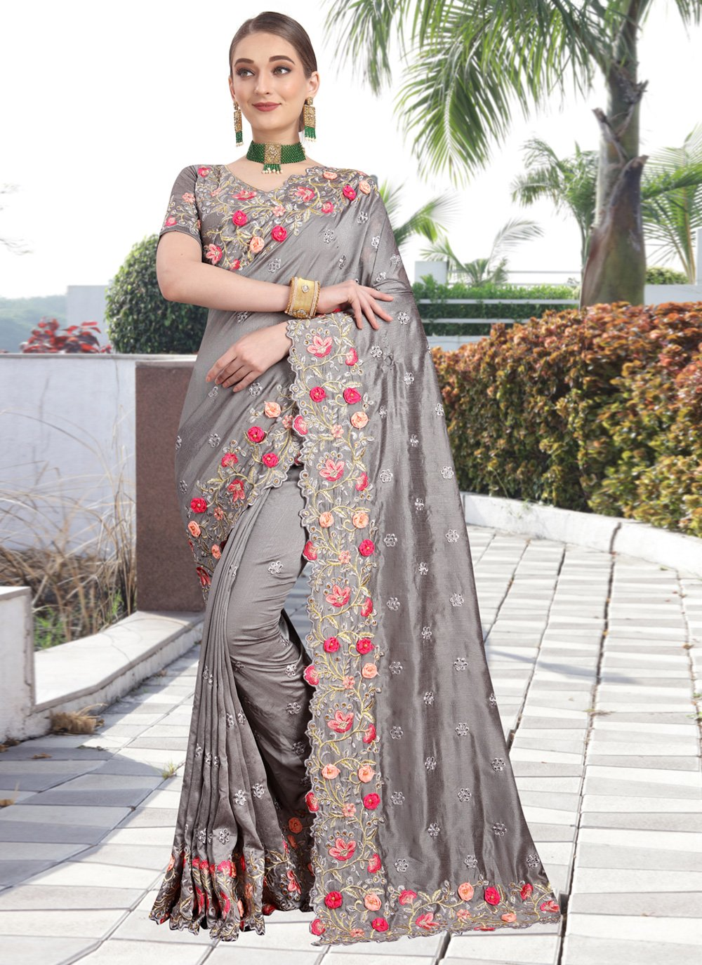 Zari Party Silk Saree