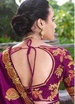 Zari Satin Silk Designer Saree