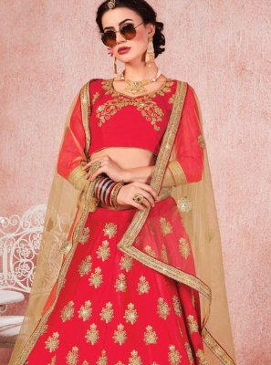 Zari Satin Silk Trendy Lehenga Choli