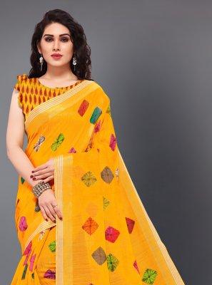 Zari Yellow Classic Saree