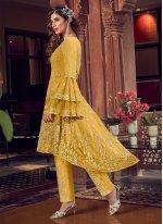 Zari Yellow Pant Style Suit