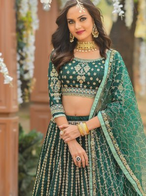 A Line Lehenga Choli For Engagement