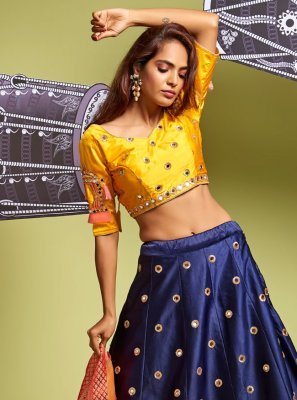 A Line Lehenga Choli For Mehndi