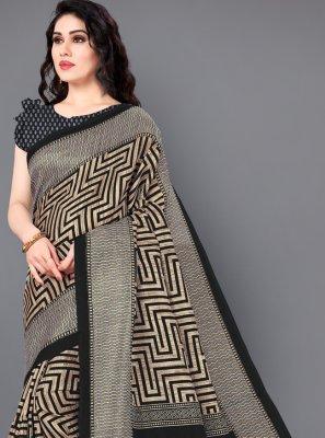 Abstract Print Casual Traditional Saree