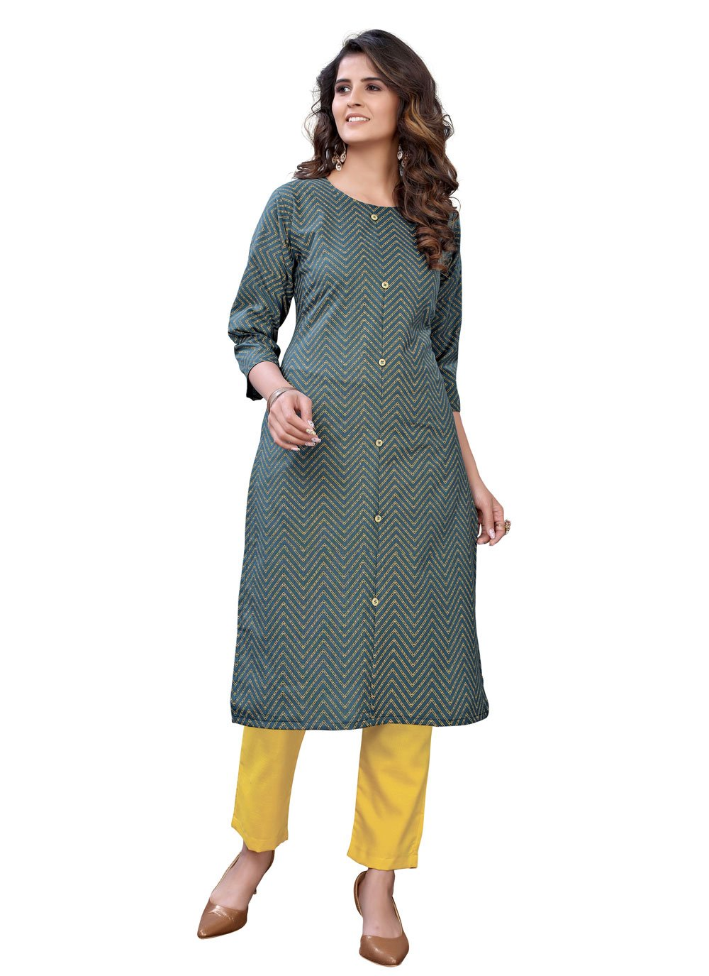 Abstract Print Party Wear Kurti