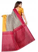Abstract Print Silk Multi Colour Traditional Saree