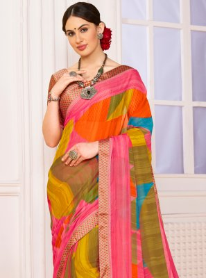 Abstract Print Weight Less Casual Saree