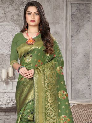 Art Banarasi Silk Ceremonial Designer Traditional Saree