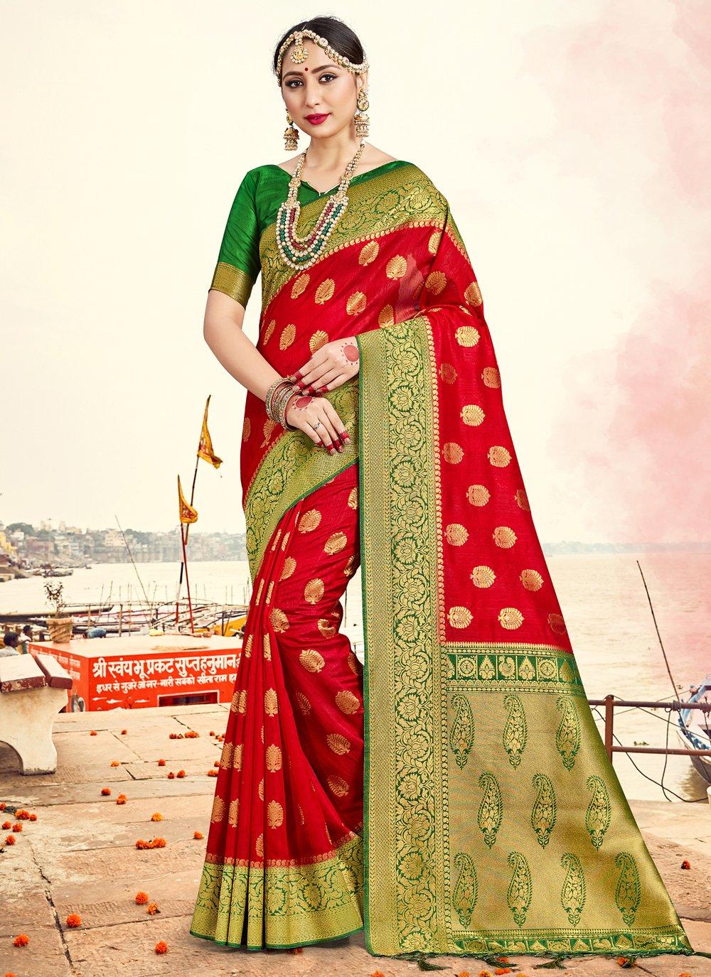 Art Banarasi Silk Festival Traditional Saree