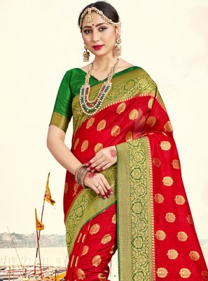 Art Banarasi Silk Festival Traditional Saree