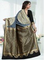 Art Banarasi Silk Grey Traditional Designer Saree
