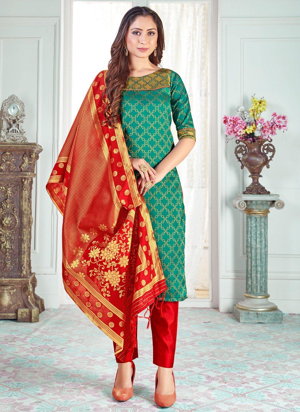 Art Banarasi Silk Pant Style Suit