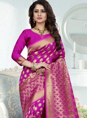 Art Banarasi Silk Rani Traditional Designer Saree