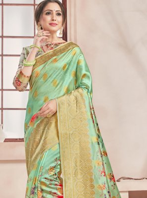 Art Banarasi Silk Woven Printed Saree