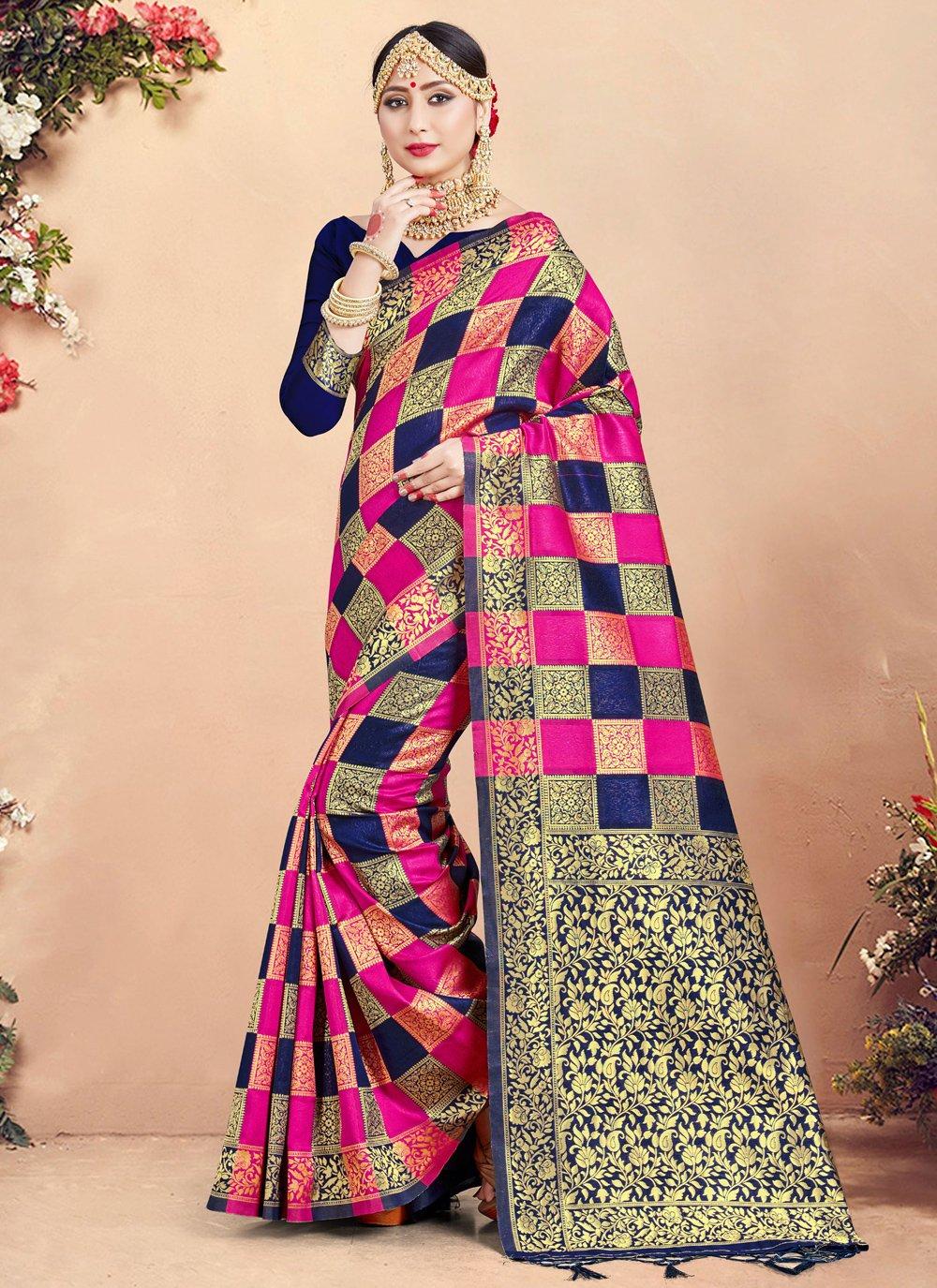 Art Banarasi Silk Woven Traditional Saree