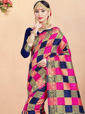 Art Banarasi Silk Woven Traditional Saree