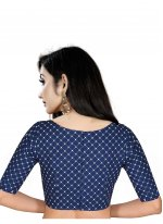 Art Silk Blouse in Blue