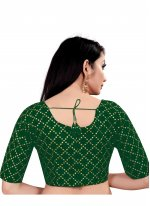 Art Silk Blouse in Green