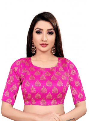 Art Silk Blouse in Pink
