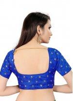 Art Silk Blue Blouse