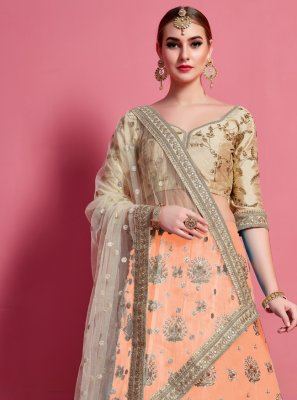 Art Silk Ceremonial A Line Lehenga Choli