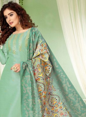 Art Silk Ceremonial Bollywood Salwar Kameez