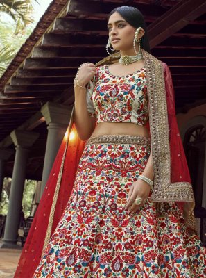 Art Silk Dori Work Multi Colour Lehenga Choli