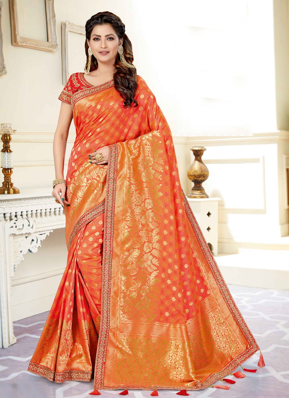 Art Silk Engagement Designer Traditional Saree