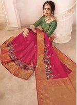 Art Silk Engagement Designer Traditional Saree