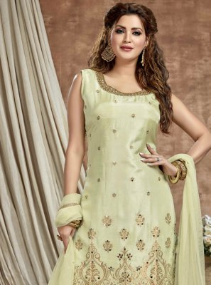 Art Silk Engagement Readymade Suit
