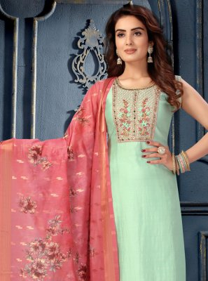 Art Silk Fancy Blue Designer Suit