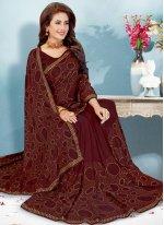 Art Silk Fancy Brown Traditional Designer Saree