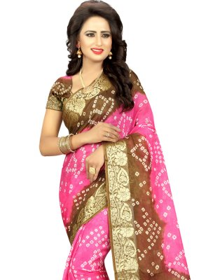 Art Silk Fancy Pink Traditional Saree