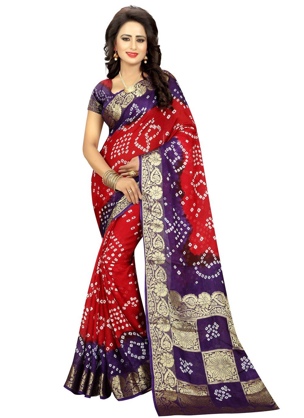Art Silk Fancy Traditional Designer Saree in Red