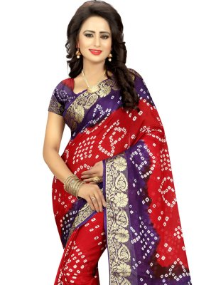 Art Silk Fancy Traditional Designer Saree in Red