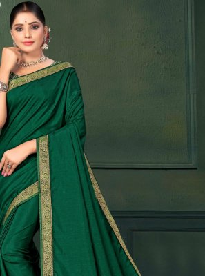 Art Silk Green Saree