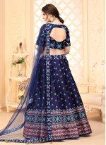 Art Silk Lehenga Choli in Blue