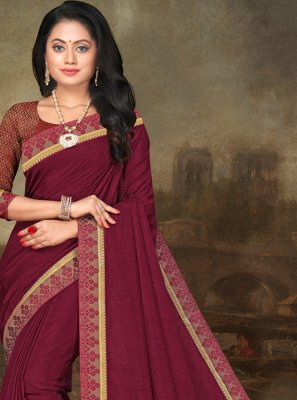 Art Silk Magenta Trendy Saree